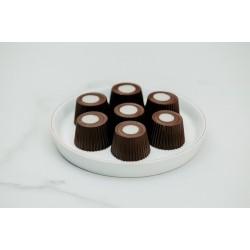 16 lı Bitter Çikolatalı Badem Ezmeli Spesiyal Ahşap Kutu