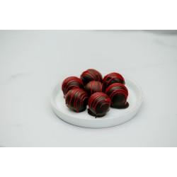 16 lı Bitter Çikolatalı Frambuaz Truff Turkuaz Kutu
