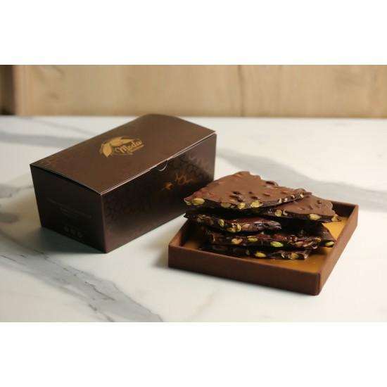 Bitter Antep Fıstıklı Beyoğlu Kırma Çikolata Kahverengi Konik Kutu