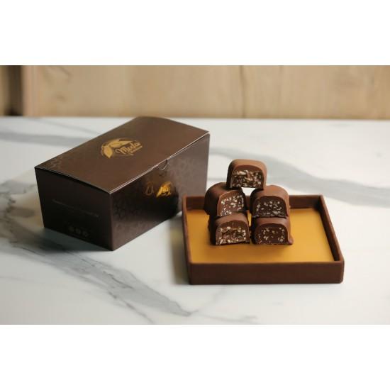 Sütlü Çikolatalı Malakoff Kahverengi Konik Kutu